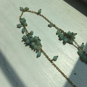 ANTHROPOLGIE Mint Sea Green Bead Layering Necklace